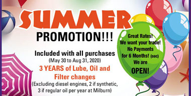 Milburn Auto Sales Current Offers